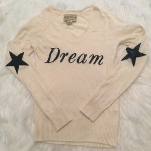 NWOT Wildfox white label Cream Dream Sweater XS